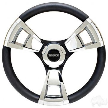 Fontana Steering Wheel, Chrome, Club Car EZGO Hub